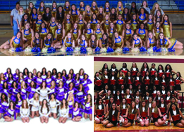 Boswell, Chisholm Trail, and Saginaw group drill team photos